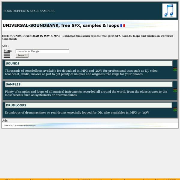 Banco de sonidos gratis online