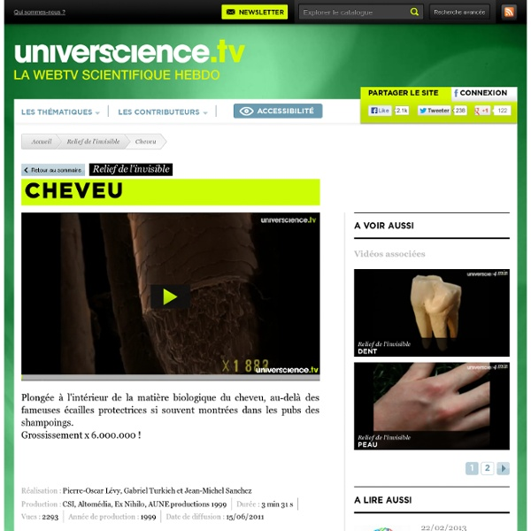 Cheveu, vidéo scientifique - Web TV universcience.tv