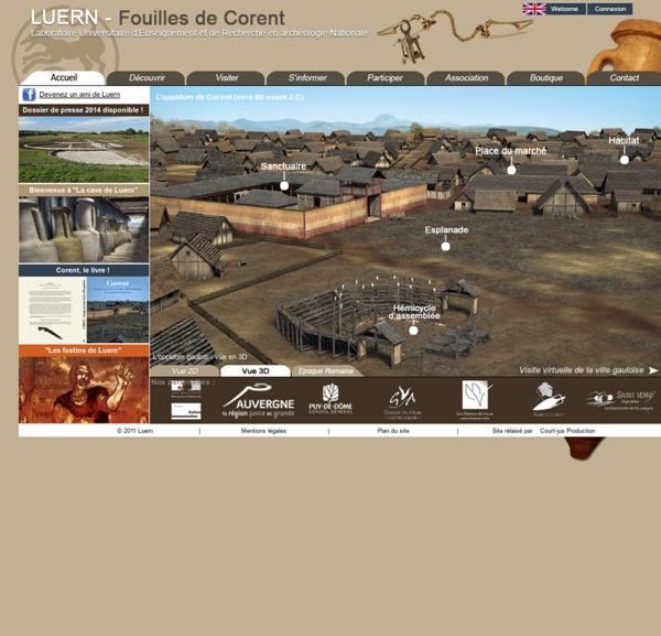 LUERN - Centre Universitaire d'Enseignement et de Recherche en archéologie Nationale - ACCUEIL