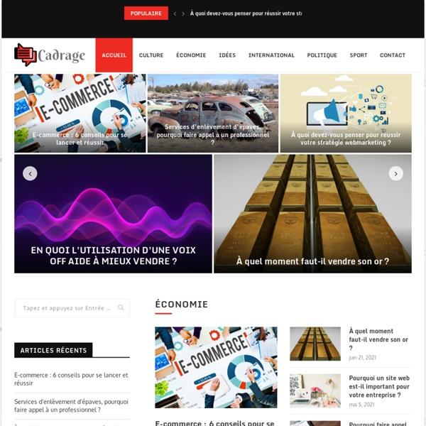 Cadrage.net / Revue universitaire française
