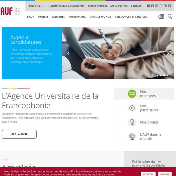 AUF Agence Universitaire de la Francophonie