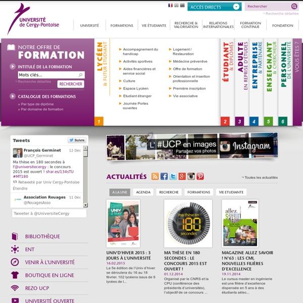 Site Internet de l'université de Cergy-Pontoise: Offres d'emplois : UFR de langues