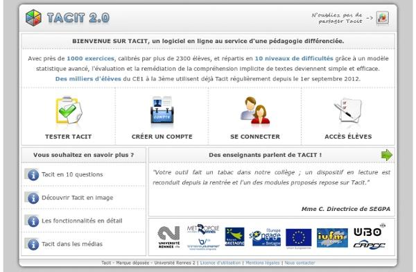 Tacit - Université Rennes 2 - Compréhension de l'implicite