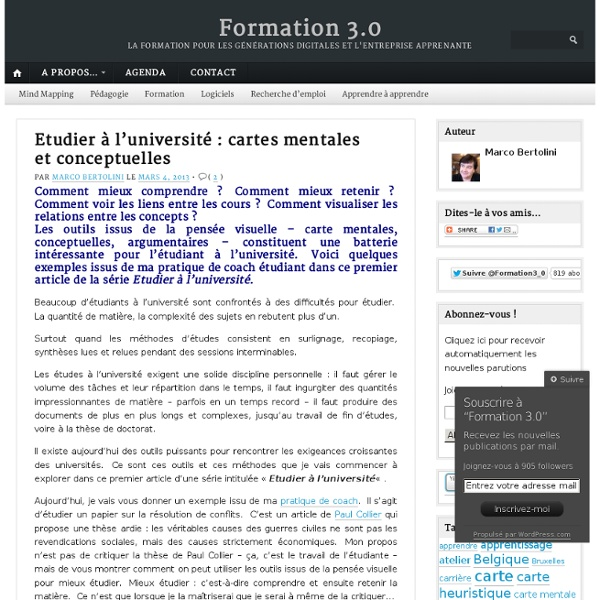 Etudier à l'université : cartes mentales et conceptuelles