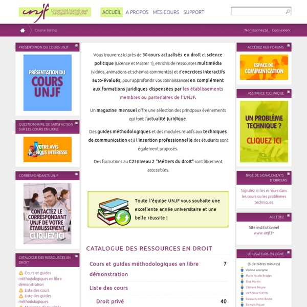 Cours de l'Université Numérique Juridique Francophone