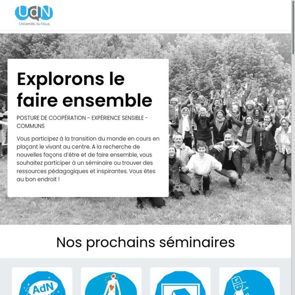 Accueil - Université du Nous