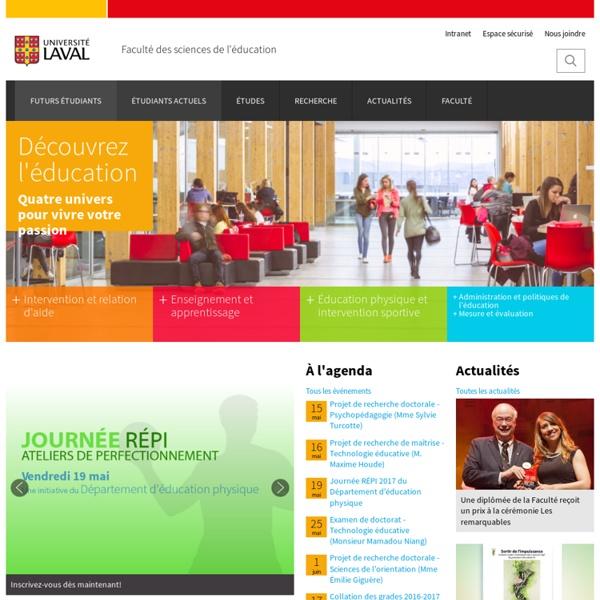 Faculté des sciences de l'éducation - Accueil