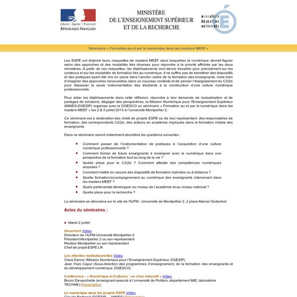 Faculté d'Education de l'Université Montpellier 2