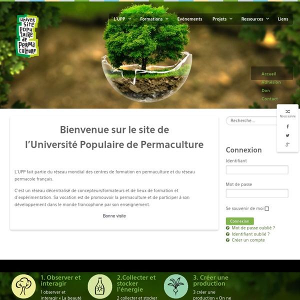 Université populaire de permaculture - Accueil
