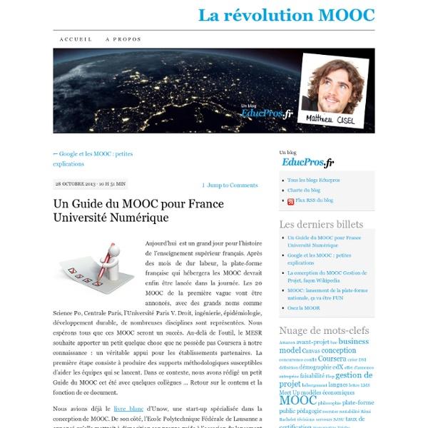 Un Guide du MOOC pour France Université Numérique