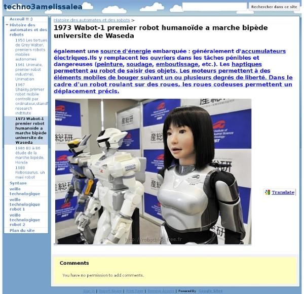 1973 Wabot-1 premier robot humanoïde a marche bipède universite de Waseda - techno3amelissalea