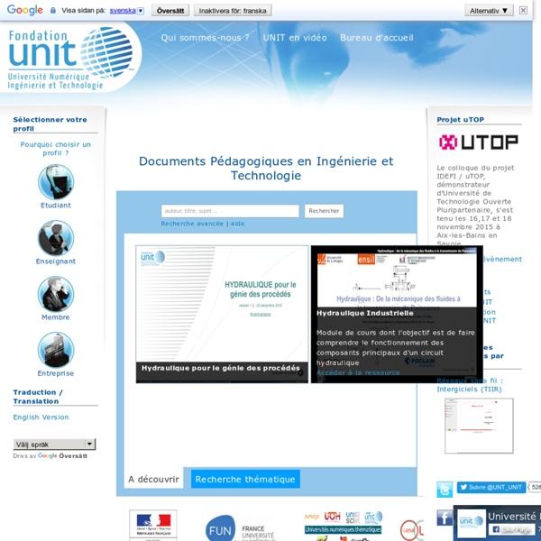 UNIT - Université Numérique Ingénierie et Technologie