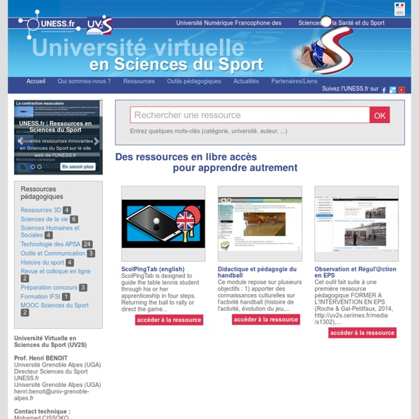 UV2S Université Virtuelle en Sciences du Sport