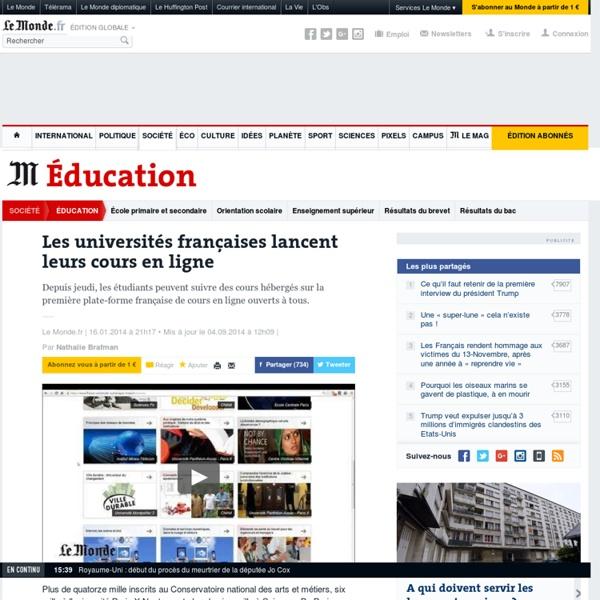 Les universités françaises lancent leurs cours en ligne