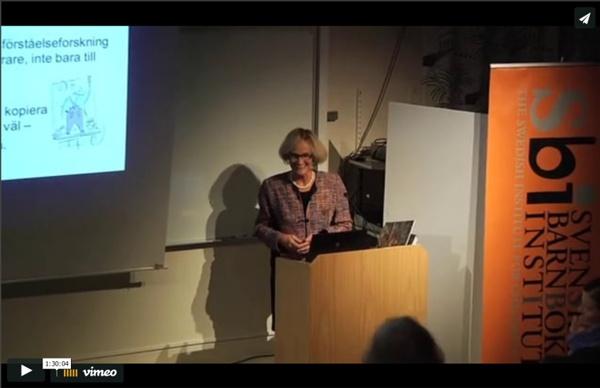 Perspektiv på läsning - Barbro Westlund, Stockholms universitet, föreläser om läsförståelse