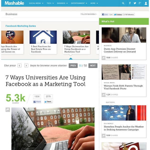 7 Ways Universities Are Using Facebook as a Marketing Tool