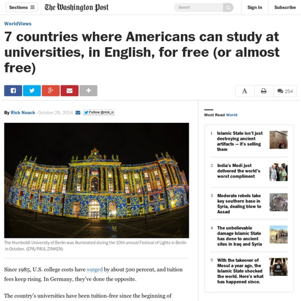 7 countries where Americans can study at universities, in English, for free (or almost free)
