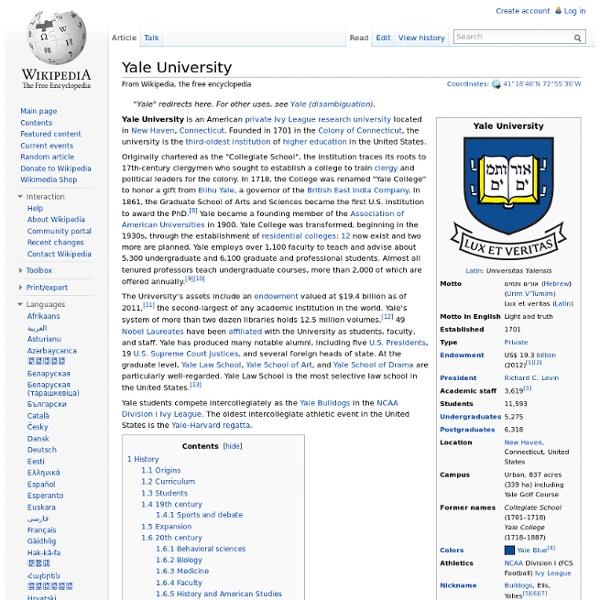 Yale University wikipedia