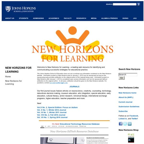Johns Hopkins University: New Horizons for Learning