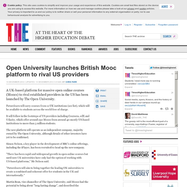 Open University launches British Mooc platform to rival US providers