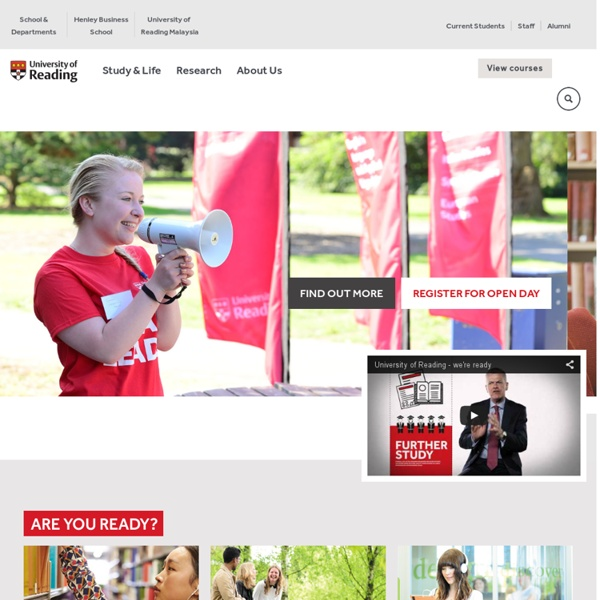 Discover the University of Reading - study, live and socialise at one of the top 1% universities in the world – University of Reading