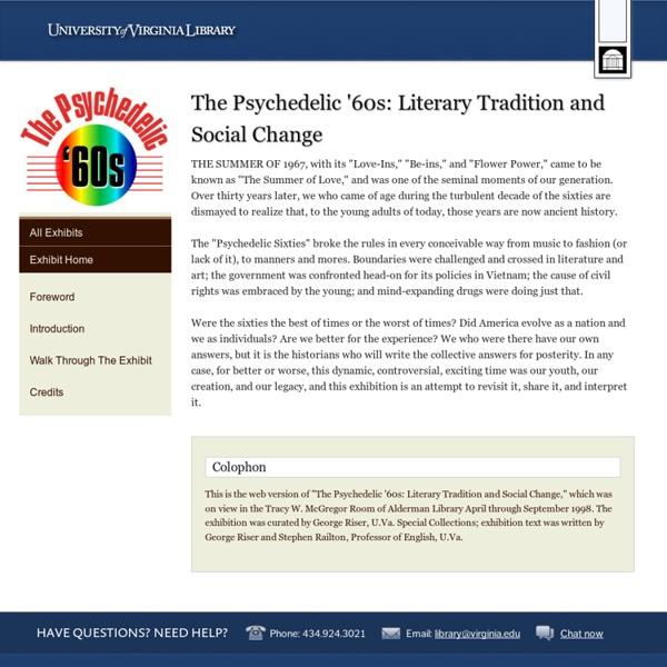 University of Virginia Library Online Exhibits