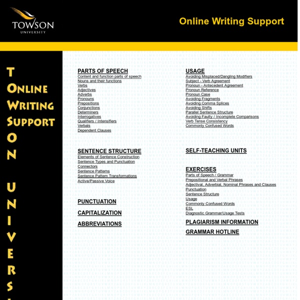 towson online writing support View justine calcagno's profile on linkedin, the world's largest professional community justine has 10 jobs listed on their profile see the complete profile on.