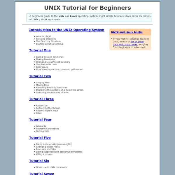 UNIX / Linux Tutorial for Beginners