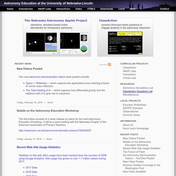 UNL Astronomy Education