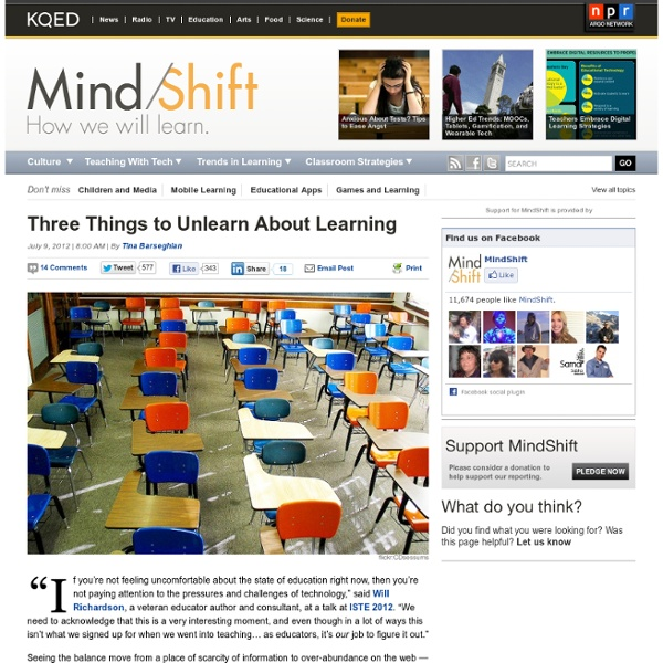 Three Things to Unlearn About Learning
