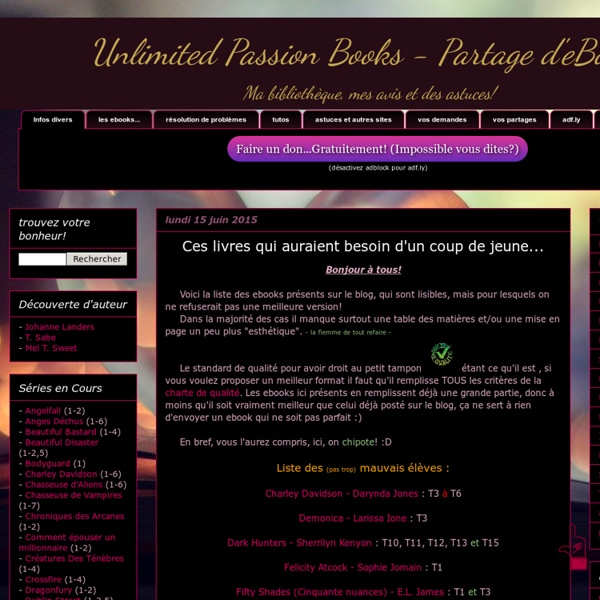 Unlimited Passion Books
