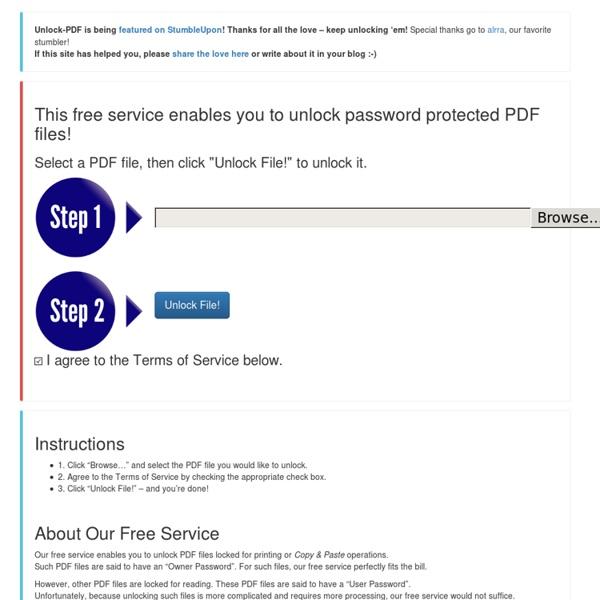 Desbloquear archivos PDF en línea