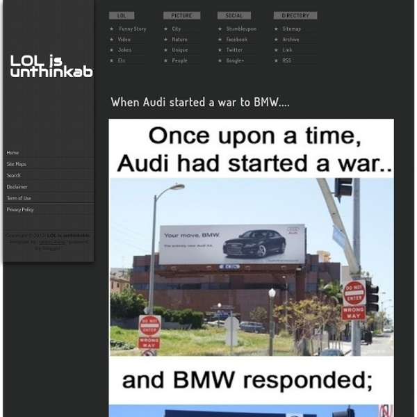 When Audi started a war to BMW....