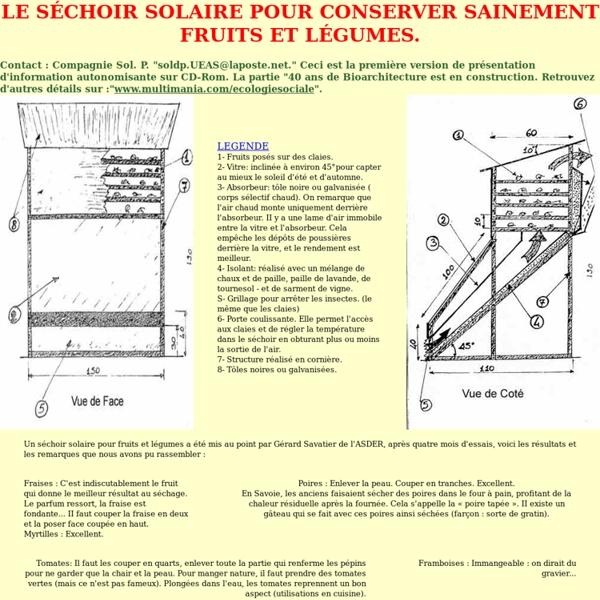 LE SÉCHOIR SOLAIRE POUR CONSERVER SAINEMENT FRUITS ET LÉGUMES.