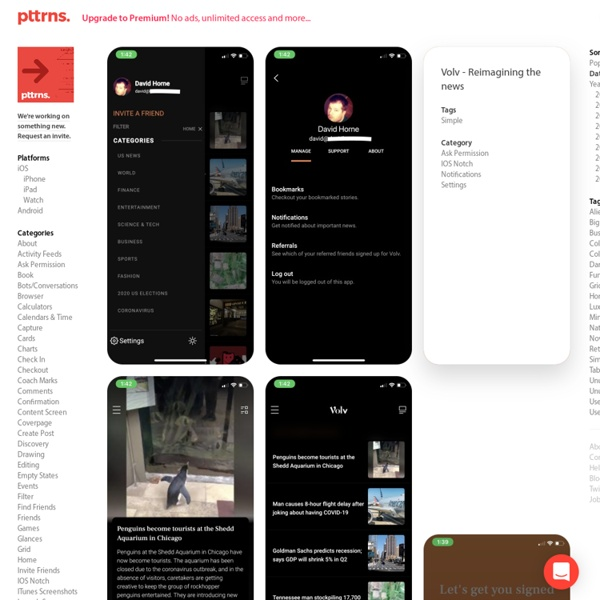 Pttrns - Mobile User Interface Patterns