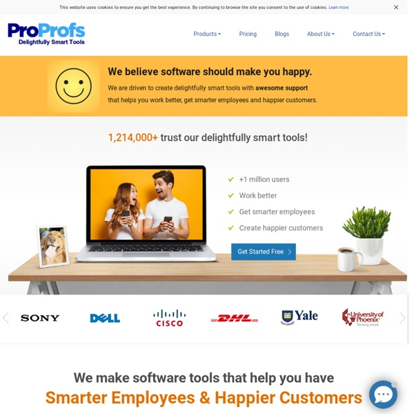 ProProfs: Knowledge Management Software & Resources