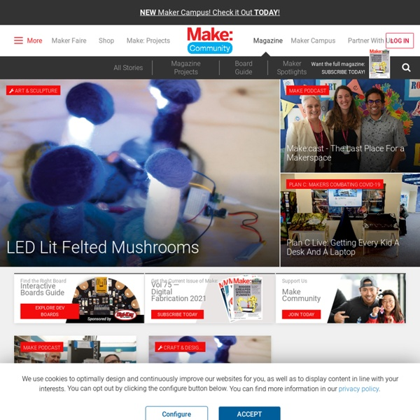 Make: DIY Projects and Ideas for Makers