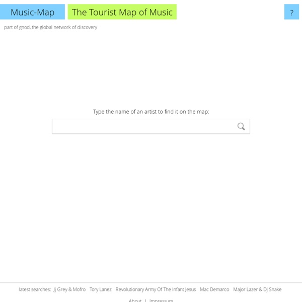 Music-Map - The tourist map of music - StumbleUpon