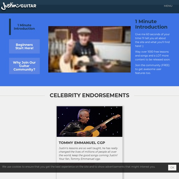 Free guitar lessons : Complete Beginners Method and loads of Blues, Jazz and rock : Learn how to play Guitar free here!