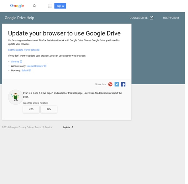 Update your browser to use Google Drive - Drive Help