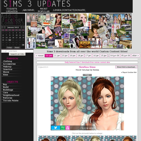 Updates and finds from all the Sims 3 Community - the best Sims3 downloads!