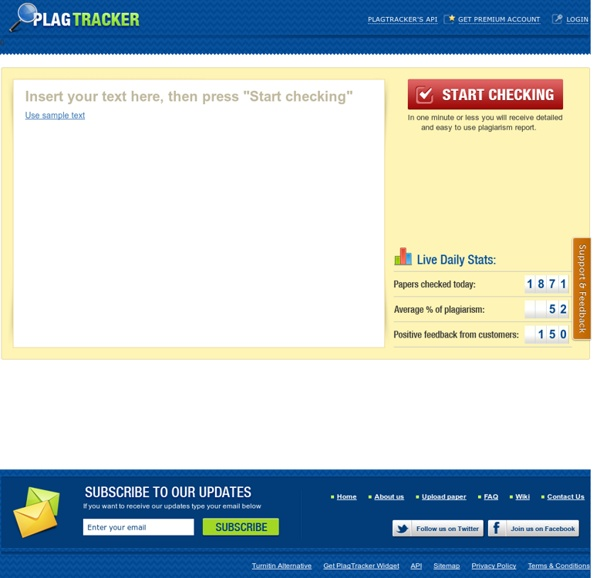 Upload your paper and get instant result - PlagTracker.com