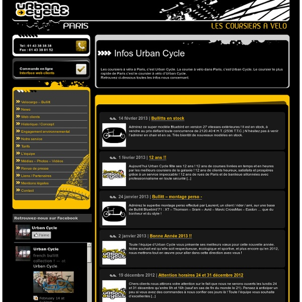 : Urbancycle - Contact :