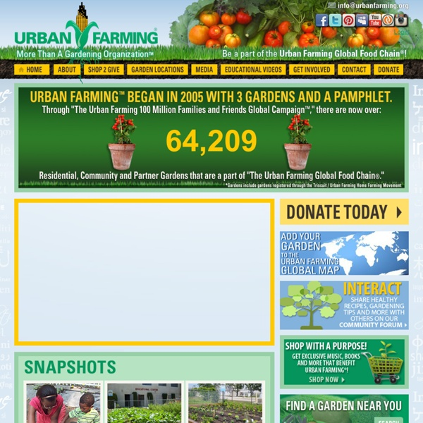 Urban Farming intends to eradicate hunger by optimizing the production of unused land in cities, rooftops, walls, in planters, malls & sidewalk cafes