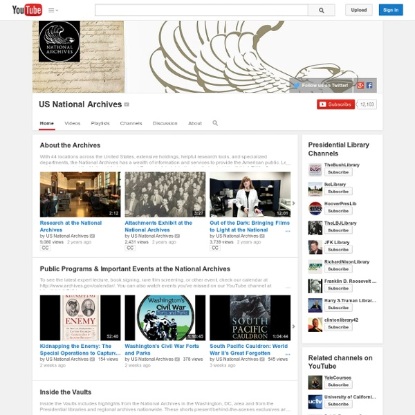 Usnationalarchives's Channel