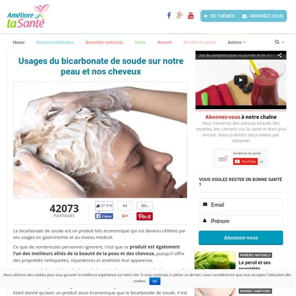 Usages du bicarbonate de soude sur notre peau et nos cheveux