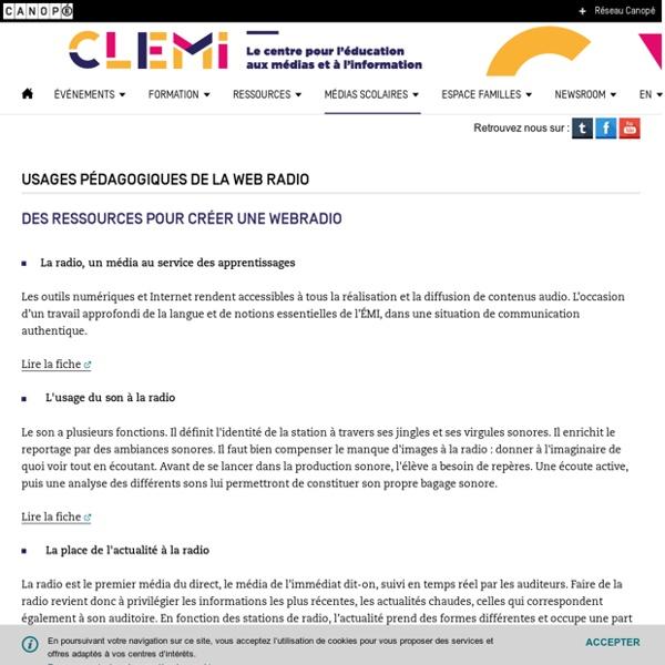 Usages pédagogiques de la web radio- CLEMI