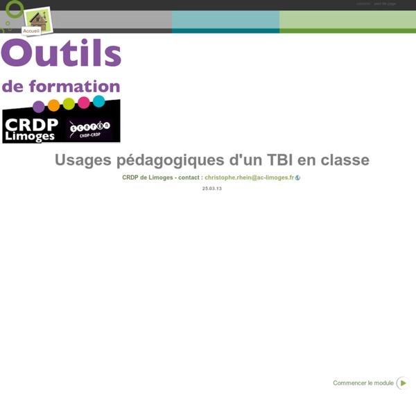 Usages pédagogiques d'un TBI en classe