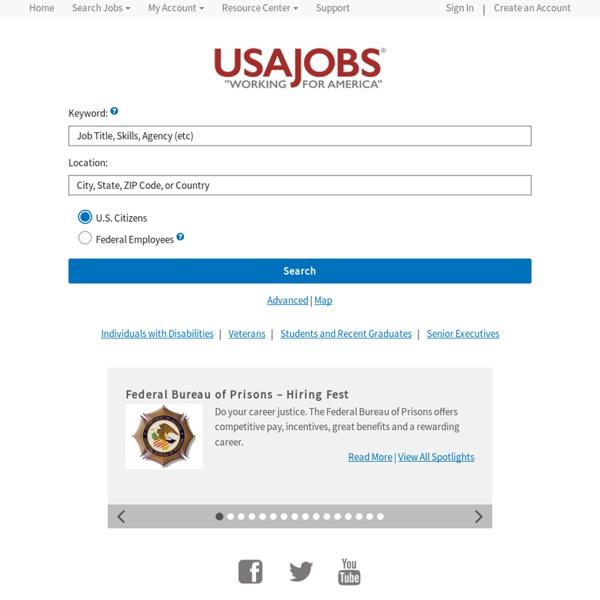 USAJOBS - The Federal Government's Official Jobs Site | Pearltrees