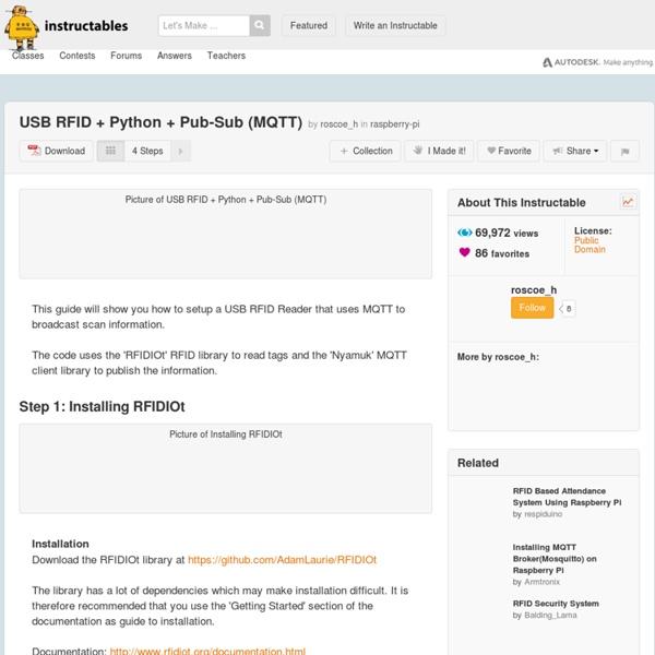 USB RFID + Python + Pub-Sub (MQTT)